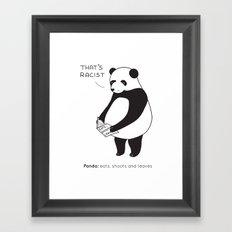 Pandas not Guns Framed Art Print