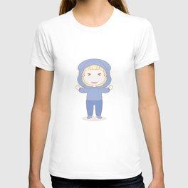 Anime Manga Cartoon Kind Blau Junge T-shirt