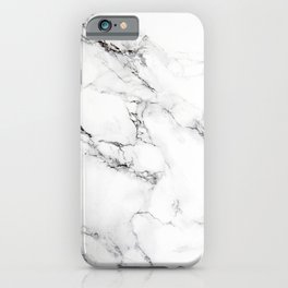 White and gray marble iPhone Case