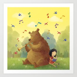 Friend Bear Art Print