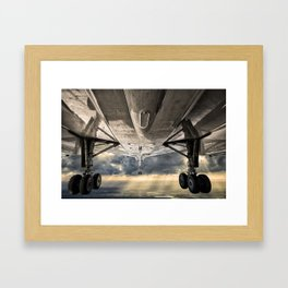 Concorde gear down and locked Framed Art Print