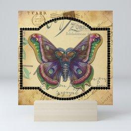 Vintage Purple Butterfly Mini Art Print