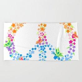 Peace Sign Beach Towel