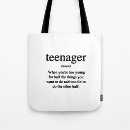 Teenager. Tote Bag