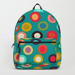 turquoise pop spot Backpack