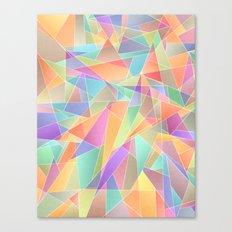 The Geometric Glass Shatter Canvas Print