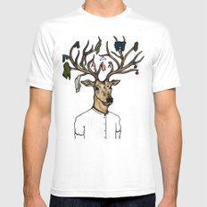 Evicted deer Mens Fitted Tee MEDIUM White