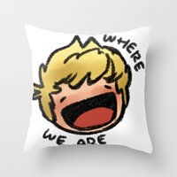 niall Throw Pillows featuring WWA Niall by cargline