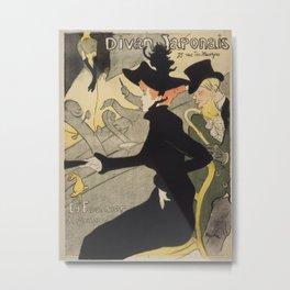 Divan Japonais - Henri de Toulouse Lautrec Metal Print