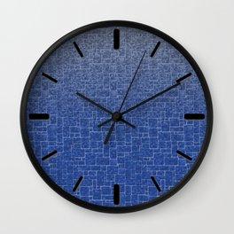 Marble brick, loft, gradient, blue gradient Wall Clock