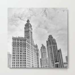 Chicago Iconic Wrigley Building Metal Print