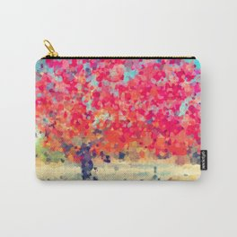 Orange Tree Watercolor digital Carry-All Pouch