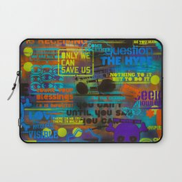 Uplifting Collage (fluo) Laptop Sleeve