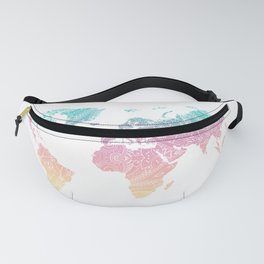 World Map Pastel Fanny Pack