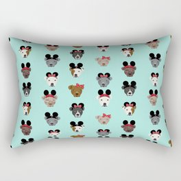 pitbull mouse ears theme park vacation dog gifts Rectangular Pillow