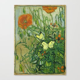 """Vincent Van Gogh """"Butterflies and Poppies"""" Canvas Print"""