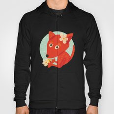 Cute Fox And Flowers Hoody