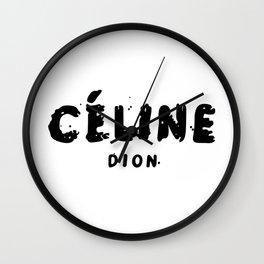 celine.dion Wall Clock
