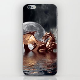 Mystical Dragon and Moon Fantasy Design iPhone Skin
