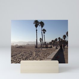 Santa Monica Beach in California Mini Art Print