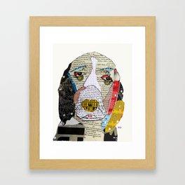 brown the spaniel Framed Art Print