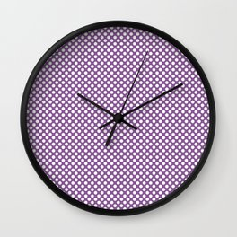 Dewberry and White Polka Dots Wall Clock