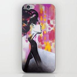 Neon Geisha iPhone Skin
