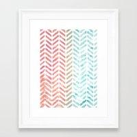 herringbone Framed Art Prints featuring Herringbone by Chilligraphy
