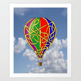 Balloon Knot Art Print