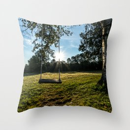 Country Comfort / Tree Swing Throw Pillow