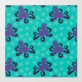 Darien the Hipster Octopus! Canvas Print