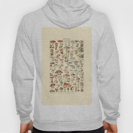Trippy Vintage Mushroom Chart // Champignons by Adolphe Millot 19th Century Science Artwork Hoody