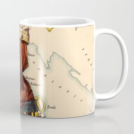 Vintage Illustrative Map of Italy (1869) Coffee Mug
