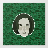 scully Canvas Prints featuring Dana Scully by Kuki
