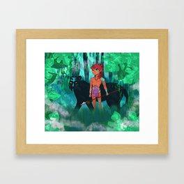 Tribal boy Framed Art Print