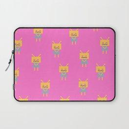 Shy Little Robot (pink) Laptop Sleeve