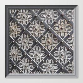Metallic And Decorative - Grey Monochrome #decor #society6 #buyart Canvas Print
