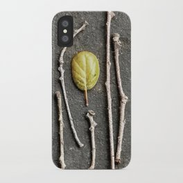 Leaf and twigs iPhone Case