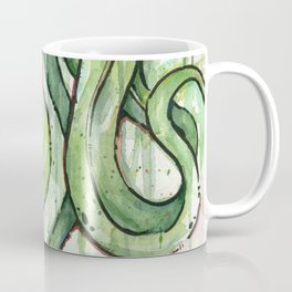 Cthulhu HP Lovecraft Green Monster Tentacles Coffee Mug