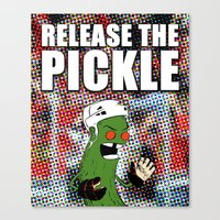 blackhawks Canvas Prints featuring Release the Pickle by Le Pac