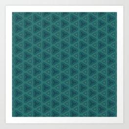 Dark Teal Textured Pattern Design Art Print