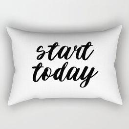 Start Today, Typography Poster, Inspirational Posters, Handwritten Quote, Motivational Print Rectangular Pillow