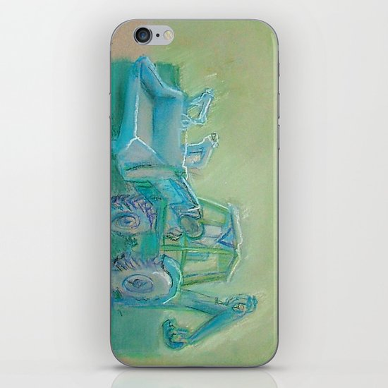 Traktor blue iPhone & iPod Skin