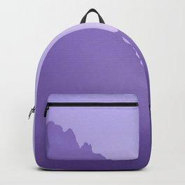 Grand Teton Mountains Jackson, Wyoming Purple  Backpack