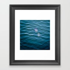 Turtles in love Framed Art Print