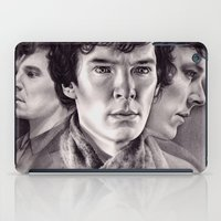 sherlock iPad Cases featuring Sherlock by KatePowellArt