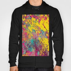 Abstract TexTure Uno - Pink, Purple, Blue And Yellow Hoody