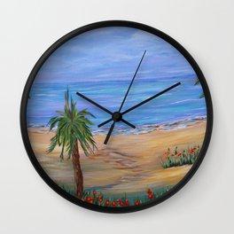 Beach Art, Heading To The Beach, Impressionism art Wall Clock