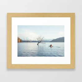 That Wanaka tree kayak session Framed Art Print