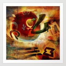 Elements VI - Radiate Art Print
